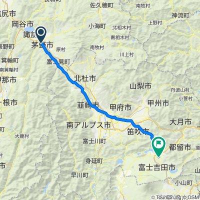 Chino to Fujiyoshida tunnel