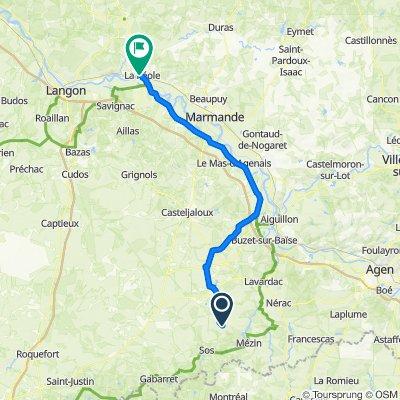 De 230 Le Bourg, Réaup-Lisse à 6 Place Chaigne, La Réole