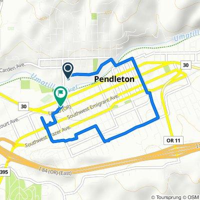 17 NW Ninth St, Pendleton to 220 SW 12th St, Pendleton