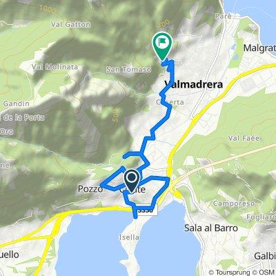 Via Stretta 17, Civate to Via Caduti della Libertà 17, Valmadrera