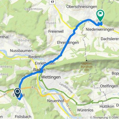 Im Rüteli 17B, Dättwil AG nach Im Uwerd 5, Niederweningen