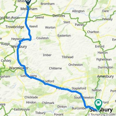Melksham to Churchfields Road, Salisbury
