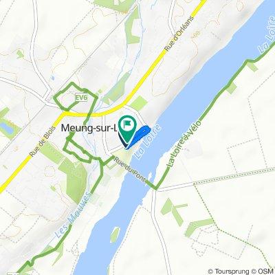 De Quai Jeanne d'Arc 54, Meung-sur-Loire à Quai Jeanne d'Arc 54, Meung-sur-Loire