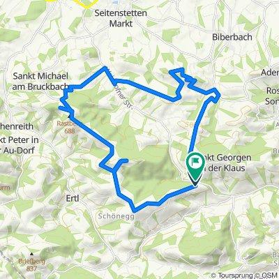 Wieser Höhe 6, Waidhofen an der Ybbs nach Sankt Georgnerstraße 1, Waidhofen an der Ybbs