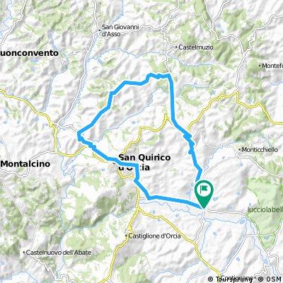 Spedaletto - San Quirico - Cosona - Pienza