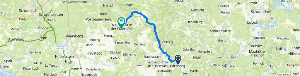 Parsberg nach Neumarkt in der Oberpfalz