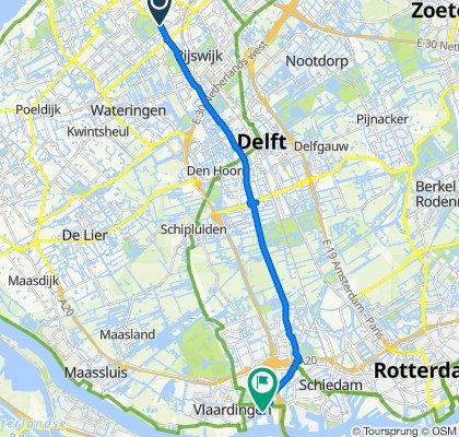 Moerweg, Den Haag naar Vulcaanweg 20, Vlaardingen