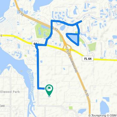 3605 62nd St E, Bradenton to 3589–3705 62nd St E, Bradenton