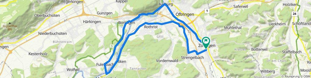 Untere Grabenstrasse 36, Zofingen nach Forstackerstrasse 4F, Zofingen