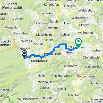 Weststraße 40, Montabaur nach Am Kreuz 30, Steinefrenz