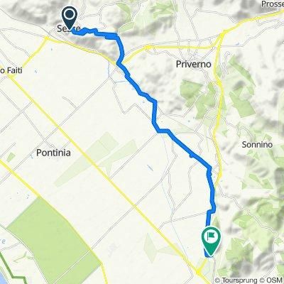 Da Porta Pascibella 9–12, Sezze a Strada Consolare 37–55, La Fiora