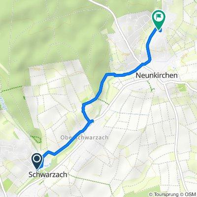 Schwarzacher Hof 3 nach Südmährer Straße 2, Neunkirchen