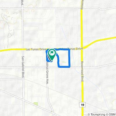 5550 S Walnut Grove Ave, San Gabriel to 5550 S Walnut Grove Ave, San Gabriel
