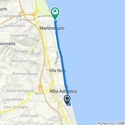 Via Abruzzo 40, Alba Adriatica to Lungomare Europa, Martinsicuro