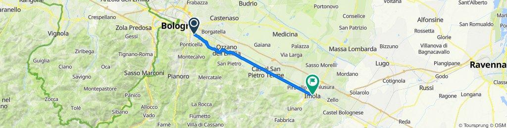 Da Via Vincenzo Gemito 8, Bologna a Viale Giosuè Carducci 3C, Imola