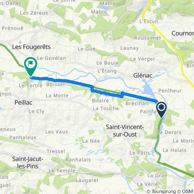 De Carrière du Houssac, Saint-Vincent-sur-Oust à Le Pont d'Oust, Peillac