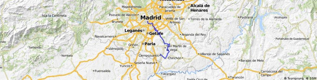 Madrid - Ciempozuelos por carril bici y caminos