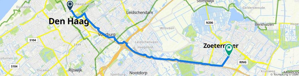 Koninginnegracht 19, Den Haag naar Eerste Stationsstraat 1A–5, Zoetermeer
