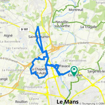 De Hameau des Marchés 22, Coulaines à Hameau des Marchés 34, Coulaines