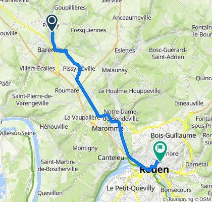 De 3 Allée de la Cotonnière, Pavilly à 5B Impasse Sainte-Marie, Rouen
