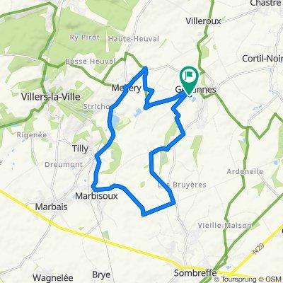 THB - Chastre/Mellery : Circuit cyclo-touristique Nature et Patrimoine