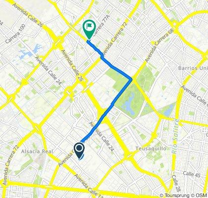 De Carrera 65 18-1, Bogotá a Carrera 77A 63 B, Bogotá
