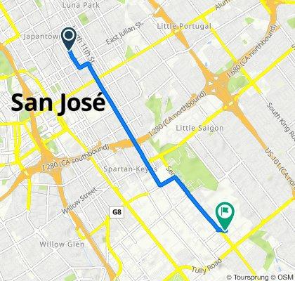 North 8th Street 398, San Jose to Senter Road 2222, San Jose