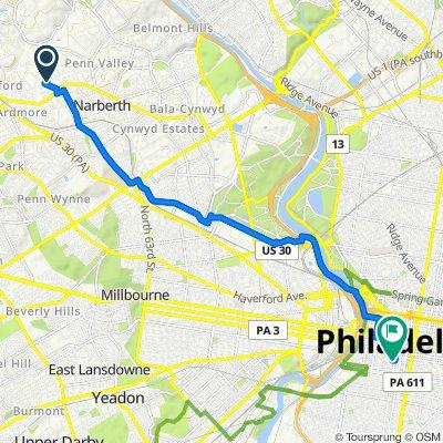 705 Cherry Cir, Wynnewood to 1718 Spruce St, Philadelphia