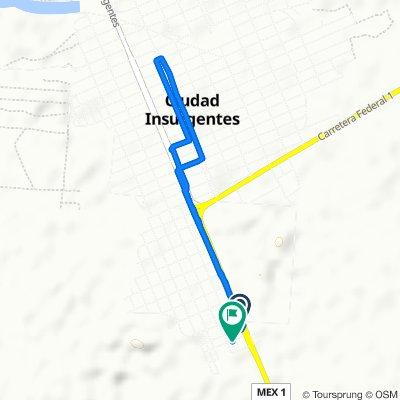 De Boulevard Benito Juárez 747–751, Ciudad Insurgentes a Calle Primero de Mayo, Ciudad Insurgentes