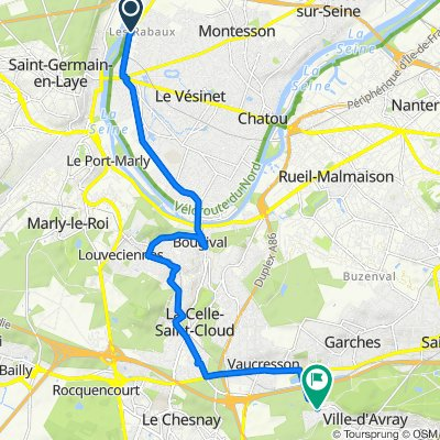 46 Avenue Gabriel Péri, Montesson to 1 Rue de Versailles, Marnes-la-Coquette