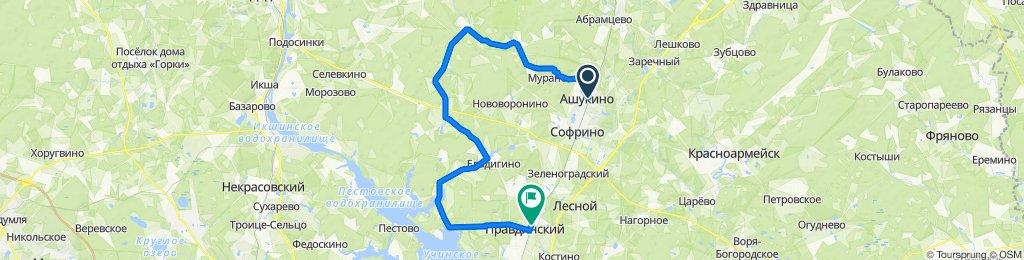 Тренировочный маршрут Ашукино-Правда (44 км)