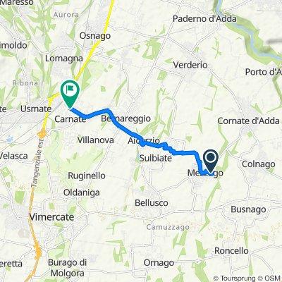 Da Via del Pozzo 26E, Mezzago a Via Lorenzo Banfi, Carnate