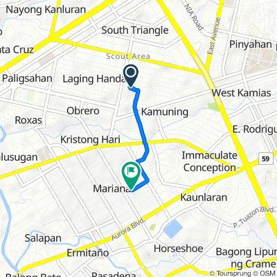 113 Scout De Guia Street, Quezon City to 23 New Jersey Street, Quezon City