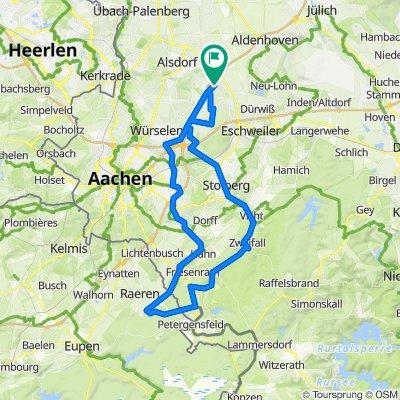 70,2 km Warden - Rott - Warden