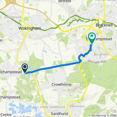 327 Nine Mile Ride, Wokingham to Turing Drive, Bracknell