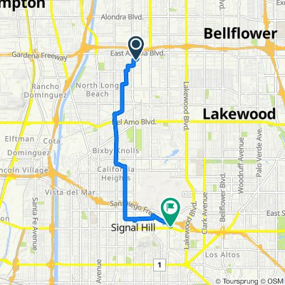 2157 E McKenzie St, Long Beach to 2600 Redondo Ave, Long Beach