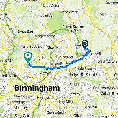 10 Hadleigh Croft, Sutton Coldfield to 15 Endwood Court Road, Birmingham