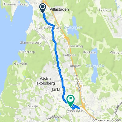 Trasa z Cylindergränd 20, Järfälla