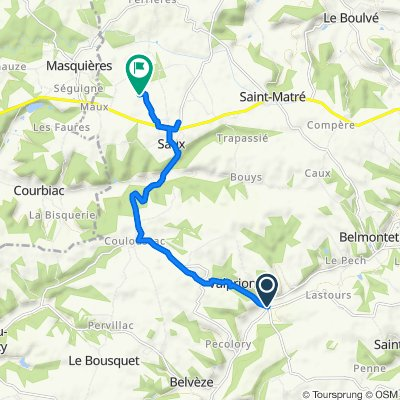Route from D55, Valprionde