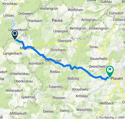 Alte Schleizer Straße nach K6609 53, Plauen