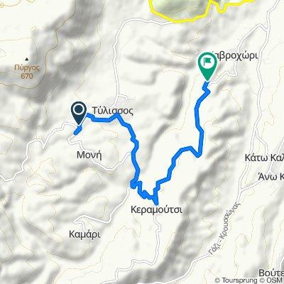 Ruta desde Tylisou-Anogeion, Tylisos