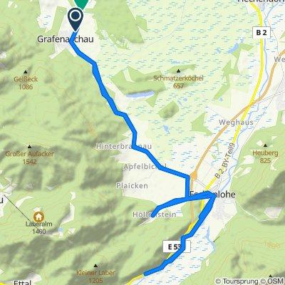 Gemütliche Route in Eschenlohe