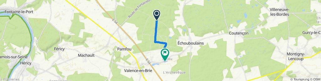 Itinéraire vers 5 Rue du Moulin, Echouboulains