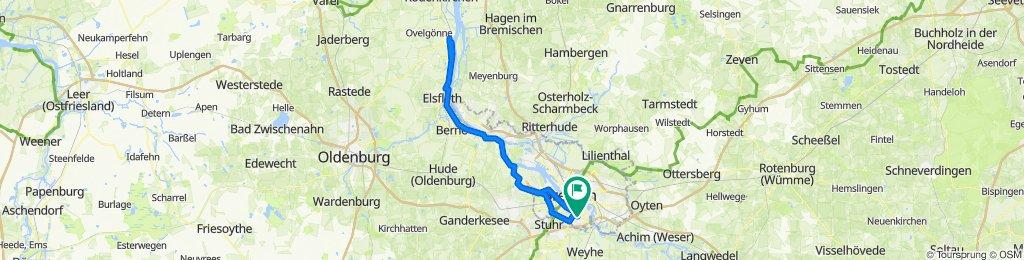 Bremen - Brake und zurück