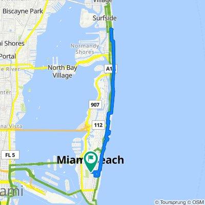 14th Street 14, Miami Beach to Pennsylvania Avenue 1358, Miami Beach