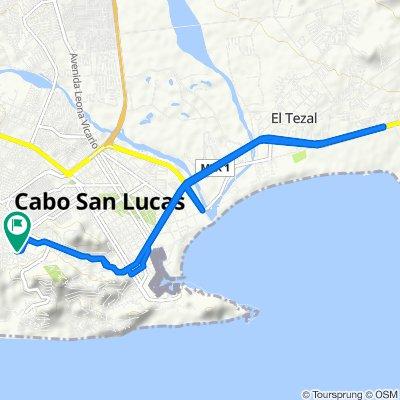 De Calle Quintas la Brisa, Los Cabos a Avenida Quintas de California, Los Cabos