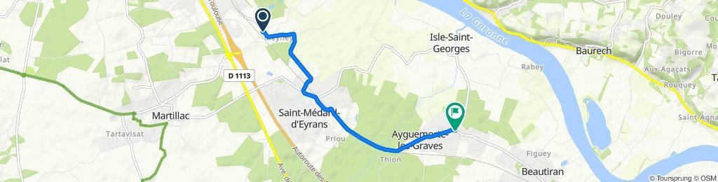De 2424–3190 Avenue de Saint-Médard-d'Eyrans, Cadaujac à 6 Avenue du Chevalier Denis de Castelnau d'Essnaud, Ayguemorte-les-Graves