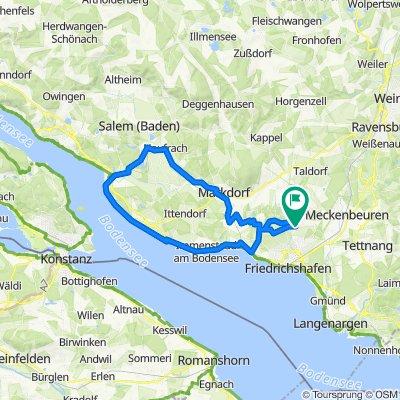 Ailingen - Fischbach - Meersburg - Unteruhldingen - Salem - Markdorf - Ailingen