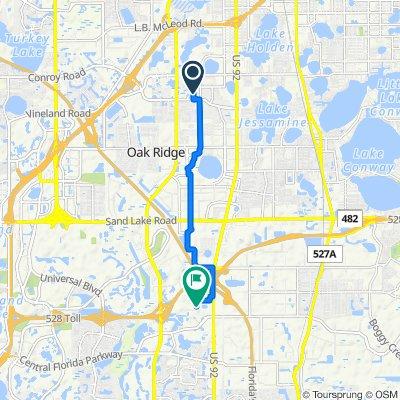 5101 Picadilly Circus Ct, Orlando to 9751 Delegates Dr, Orlando