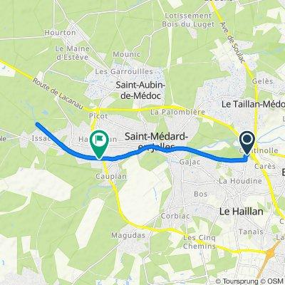 De 76 Rue du Médoc, Le Haillan à 10 Rue Eugène Chevreul, Saint-Médard-en-Jalles